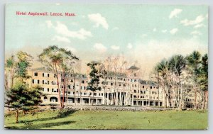 Lenox Massachusetts~Hotel Aspinwall Across Lawn & Drive~Spring Trees~c1910