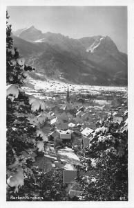 Garmisch Partenkirchen Gesamtansicht Kirche Church Winter Mountains Panorama