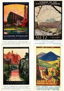 ADVERTISING TRAINS, CHEMIN DE FER POSTER STYLE 16 CPA (L2738)
