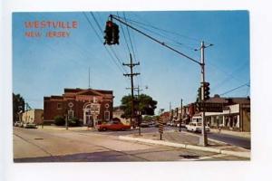 Westville NJ Bank Street View Old Cars Postcard