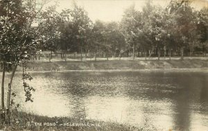 RPPC Postcard The Pond Helenville WI  Jefferson County LL Cook Photo