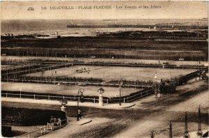 CPA DEAUVILLE - Plage Fleurie - Les Tennis et les Jetées (383482)