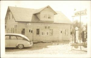 Lenox NY Old Orchard Kendall Gas Station Old Car Real Photo Postcard