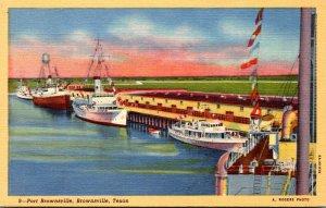 Texas Brownsville View Of Port Brownsville Curteich