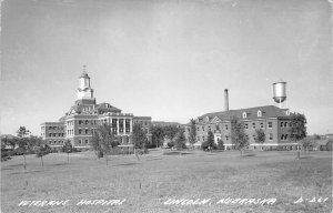RPPC Veterans Hospital, Lincoln, Nebraska 1954 Vintage Real Photo Postcard
