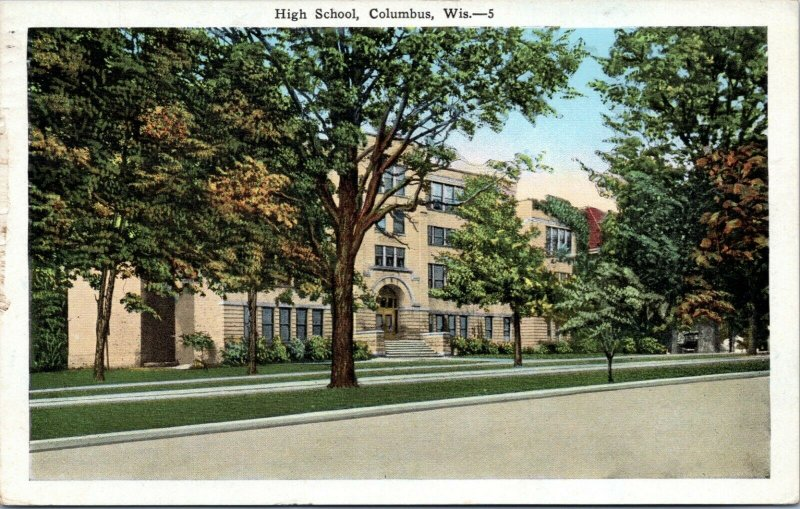 postcard High School, Columbus Wisconsin