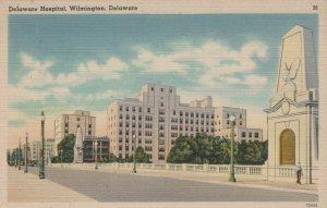 Delaware Hospital Wilmington Delaware Vintage Linen Post Card