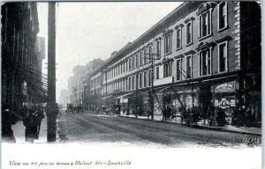 LOUISVILLE, Kentucky  KY    4th AVENUE Street Scene  c1900s  UDB   Postcard
