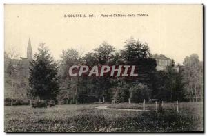 Couffe Old Postcard Park and castle of Contrie