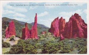 Cathedral Spires And Rock Formation Garden Of The Gods Colorado Springs Colorado