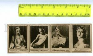 186899 ULANOVA Russian BALLET Star DANCER 4 PHOTO 1930-years
