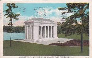 Rhode Island Providance Benedict Temple Of Music Roger Williams Park 1923