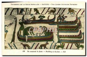 Postcard Old Bayeux Tapestry De La Reine Mathilde is constructed the Charter ...