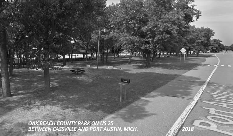 Cassville & Port Austin MI Camping in Tents~Oak Beach Park~Lake Huron~RPPC 1940s