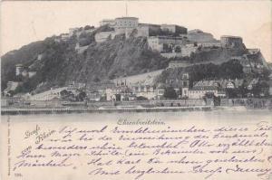 Germany Koblenz Ehrenbreitstein Gruss vom Rhein 1899