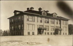 Waterville MN High School c1910 Real Photo Postcard