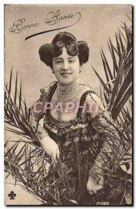 Postcard Old Woman Jewelry