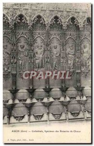 Gers - Auch - The Cathedral Choir of Specimen Woodwork - Old Postcard