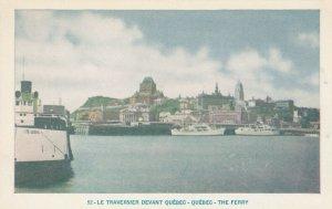 QUEBEC, Canada, 1910-20s; Le Traversier Devant Quebec - Ferry