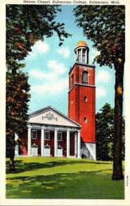 Michigan Kalamazoo Stetson Chapel Kalamzoo College 1942 Curteich