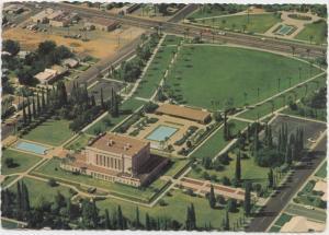 Aerial view of Mormon Temple, Mesa, Arizona, 1972 used Postcard
