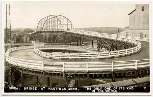 Hastings MN Spiral Bridge Unique to The World RPPC Real Photo Postcard