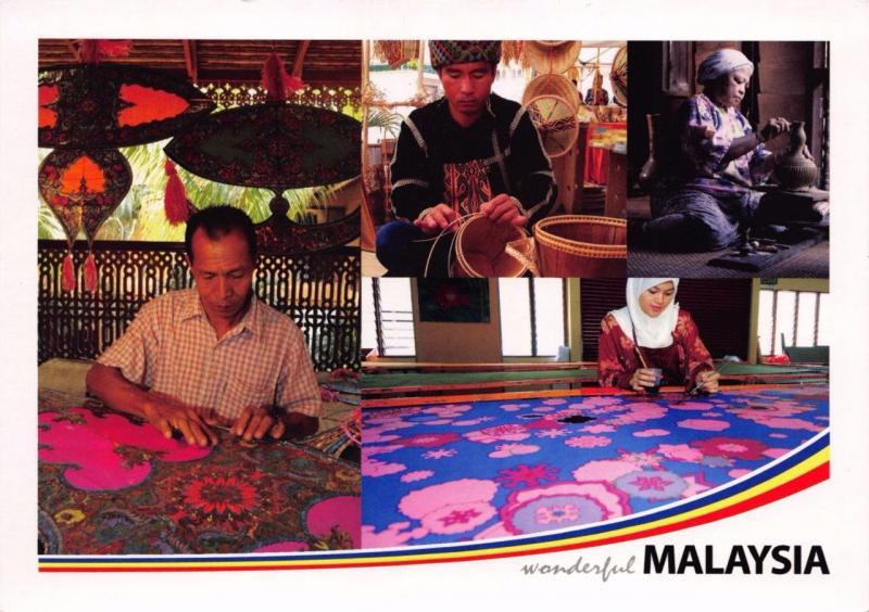 Postcard Wonderful MALAYSIA Tradition Crafts Large Format Card 170x120mm