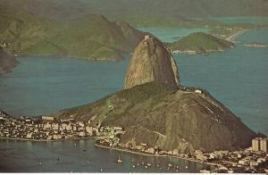 Brazil - Aerial View of Sugar Loaf, Rio - Varig Airlines