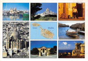 Malta Gozo and its islands multiviews, map