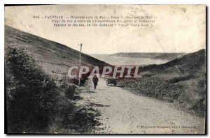 Postcard Old Vauville Descent to the Sea