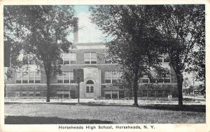 Horseheads New York High School Exterior Vintage Postcard JA4741384