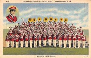 Parkersburg West Virginia High School Band Vintage Postcard AA13065