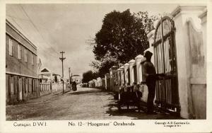 curacao, D.W.I., WILLEMSTAD, Otrabanda, Hoogstraat (1920s) Capriles  RPPC 12