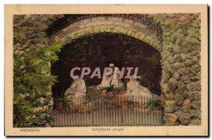 Old Postcard Arenberg Schlafende Junger
