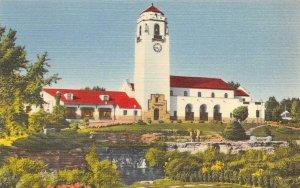 Union Pacific Railroad BOISE Passenger Station Idaho c1940s Vintage Postcard
