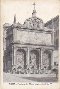 Italy Roma Rome Fontana del Mose eretta da Sisto V
