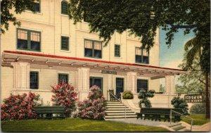 RARE Vintage Ten Eyck Hotel Mirror Lake Drive St. Petersburg Florida POSTCARD