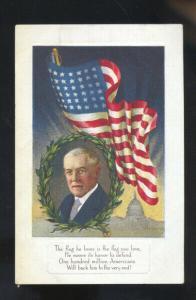 VINTAGE PATRIOTIC POSTCARD U.S. FLAG MARSHALL MISSOURI SEDALIA MO. SCHIESZER