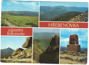 Czech Republic, HREBENOVKA, zapadni Krkonose, 1974 used Postcard