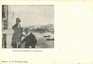 BOER WAR, President Paul Kruger arrives in Marseile (1900)