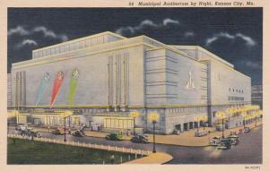 Missouri Kansas City Municipal Auditorium By Night 1940 Curteich