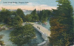 Luna Island Bridge at Niagara Falls NY, New York - pm 1919 - DB