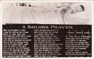 Military Sailor Sleeping A Sailors Prayer 1942 Real Photo