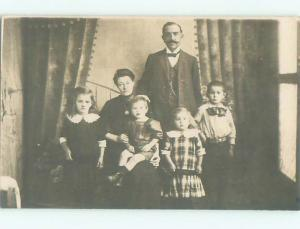 Old rppc GROUP OF PEOPLE Great Postcard AB1332