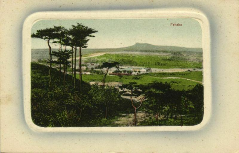 china, PEITAHO, Panorama (1910s) Blue Embossed Postcard No. 18