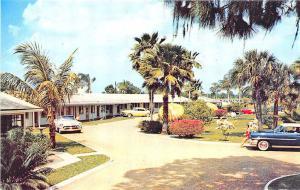 Bradenton FL Flamingo Colony Motorcourt Old Cars Postcard