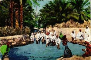 CPA Lehnert & Landrock Jette un sou dans l'eau TUNISIE (873929)