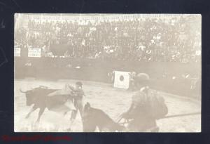 RPPC MATAMOROS MEXICO BULLFIGHT STADIUM ARENA 1913 OLD REAL PHOTO POSTCARD