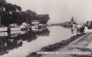 Basin End Shropshire Union Canal Real Photo Postcard