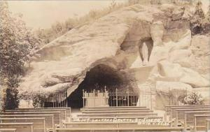 Ohio St Joseph Lourdes Grotto Real Photo